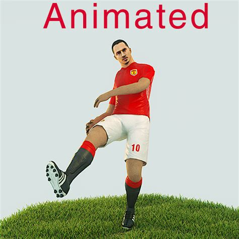 Kickers Animation zlatan ibrahimovic ready football player kick animation by 3dgeeq