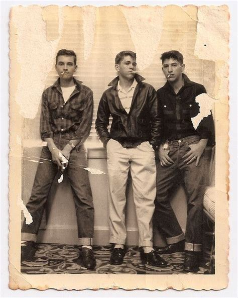 1950s greaser boys teen boy fashion bad kids and world on fire on pinterest
