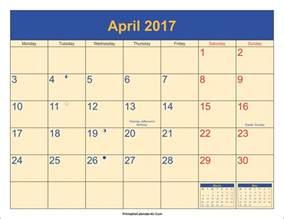 calendar template with holidays april 2017 calendar with holidays weekly calendar template