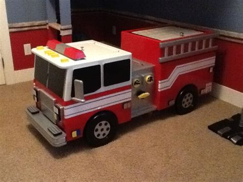 fire truck toy box and storage bench fire truck box diy fire free engine image for user manual download