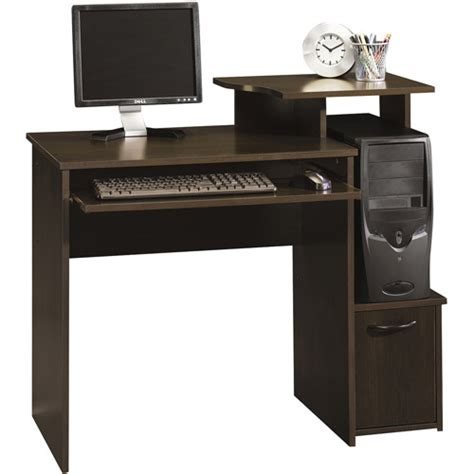 sauder beginnings student desk cinnamon cherry