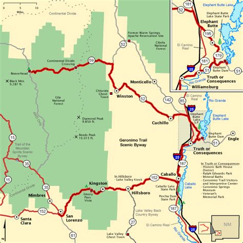 american scenic byway map geronimo trail scenic byway map america s byways