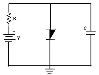 capacitor across oscillator pnpn diode or shockley diode