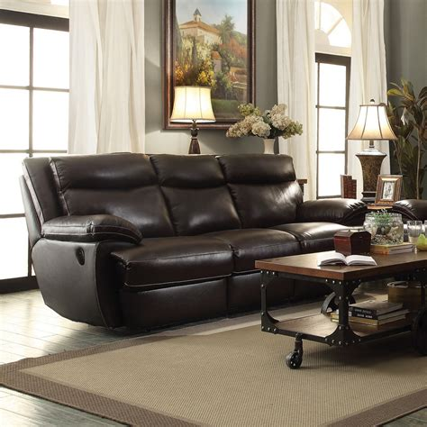 coaster reclining sofa coaster macpherson power reclining sofa cocoa bean