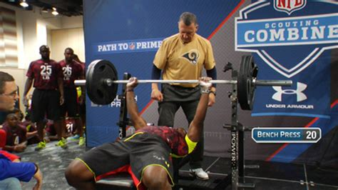 combine bench press weight the ultimate guide to the nfl combine robertson training
