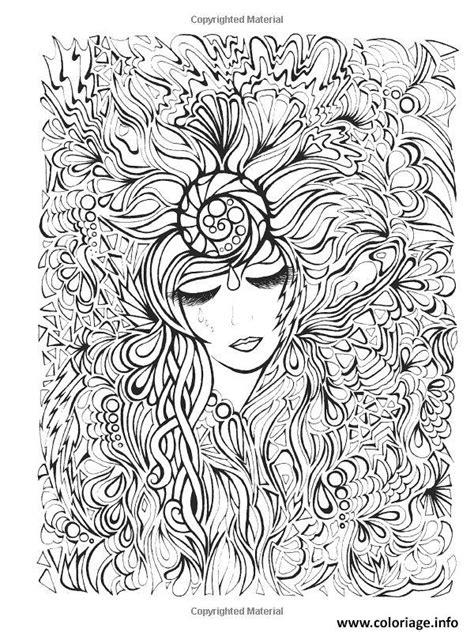 an anti stress coloring book coloriage visage et fleurs dessin
