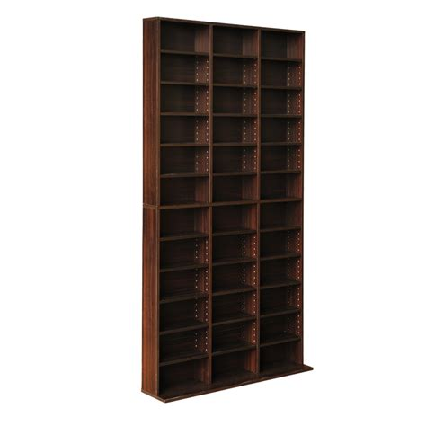 dvd cd bookcase storage shelves organiser shelf display