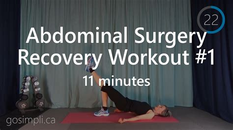 post abdominal surgery recovery workout 1 c recovery workout