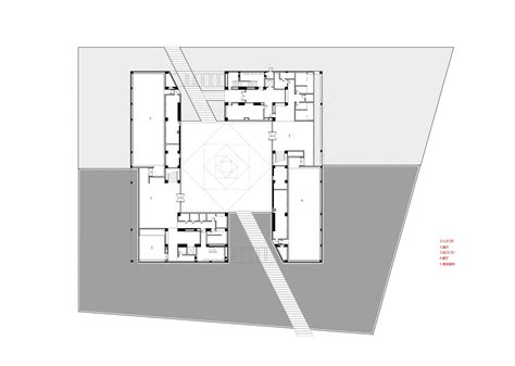 Architecture Floor Plan by Gallery Of Fan Zeng Art Gallery Original Design Studio 24