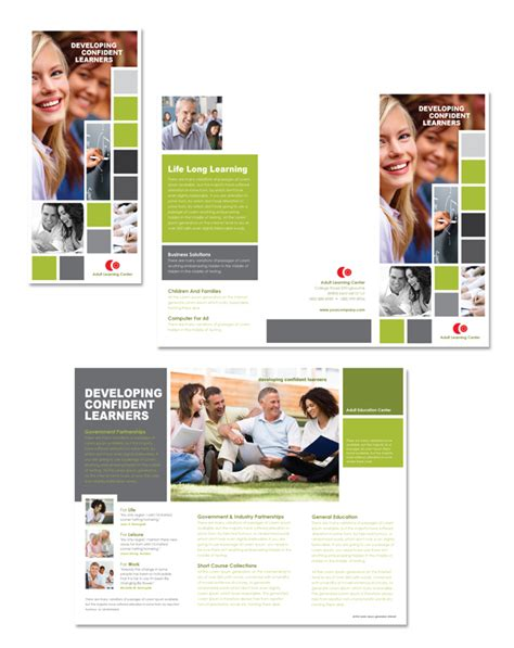 education brochure template education tri fold brochure template