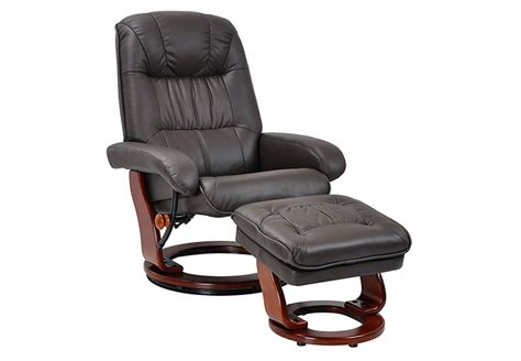 benchmaster swivel recliner chair ottoman set brown leather chair lancaster heights brown leather power
