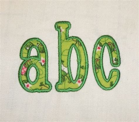 free machine embroidery applique chachie applique machine embroidery font