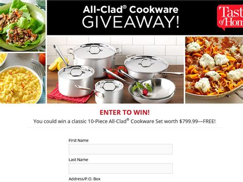 Taste Of Home Sweepstakes - the taste of home stainless steel cookware giveaway sweepstakes sweepstakes fanatics