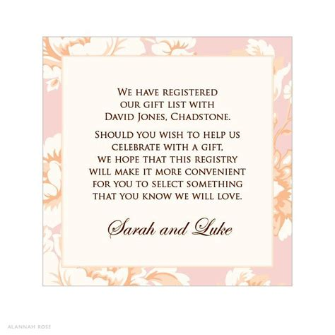 Wedding Invite Present Wording by Gift Card For Bridal Shower Wording Bridal Shower