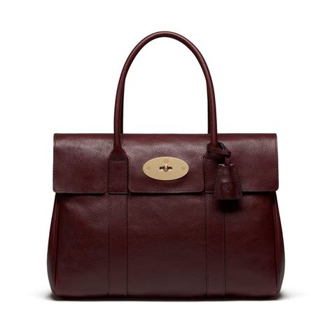 Tribute To A Timeless Classic Mulberrys Leather Bayswater Bag by Bayswater Oxblood Coloured Leather