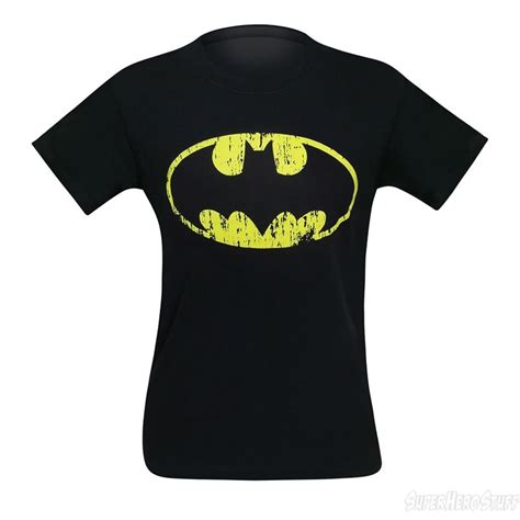 Batman Distressed Symbol Black T Shirt | batman distressed symbol black t shirt