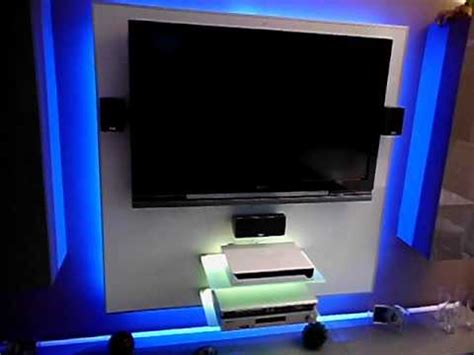 wand led beleuchtung tv wand mit rgb led beleuchtung