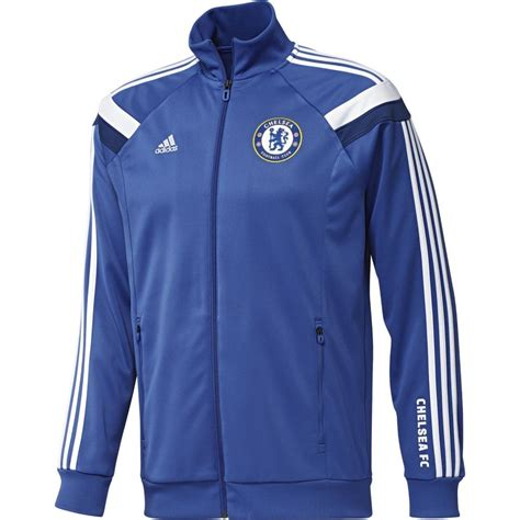 Jaket Windcheater Blue Black Chelsea adidas chelsea football club 2014 anthem mens track jacket blue sportitude