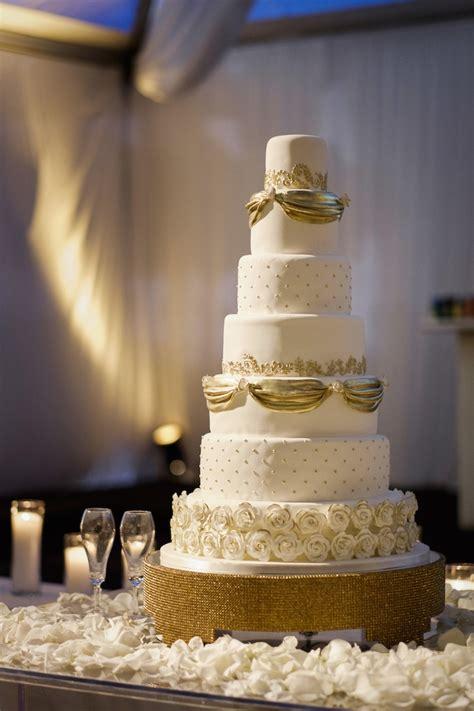 Golden Wedding by Cakes Desserts Photos 7 Tier Gold White Wedding Cake