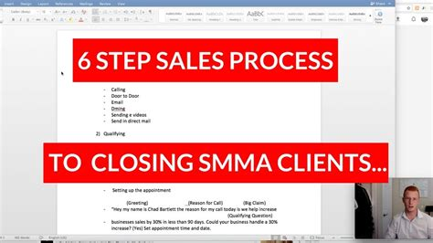 Closing Smma Clients The 6 Step Sales Process To Follow Youtube Smma Contract Template