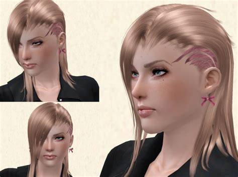 sims 4 hairstyle shaved side the sims 3 shaved on one side hairstyle