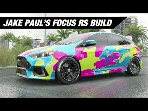 jake paul car jake paul s rainbow wrapped focus build forza horizon 3