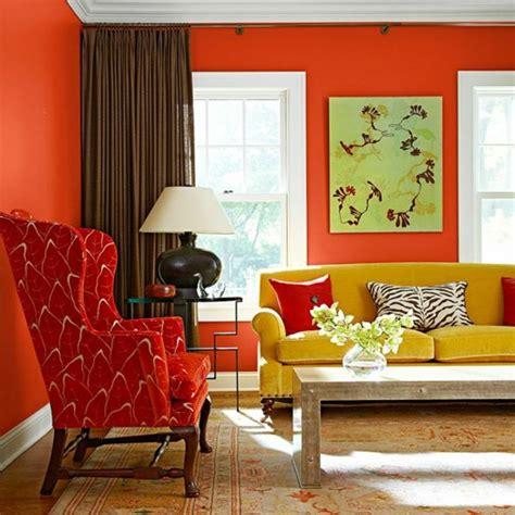 ideen fürs schlafzimmer senfgelb und blau wohnzimmer deko rot