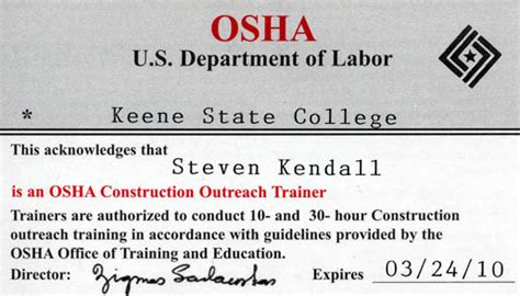 osha piv certification card template osha card template images