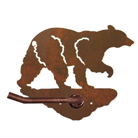 bear toilet paper holder black bear metal toilet paper holder