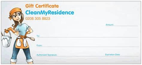 house cleaning gift certificate template domestic cleaners in greenwich se