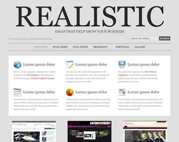 realistic website template free website templates os