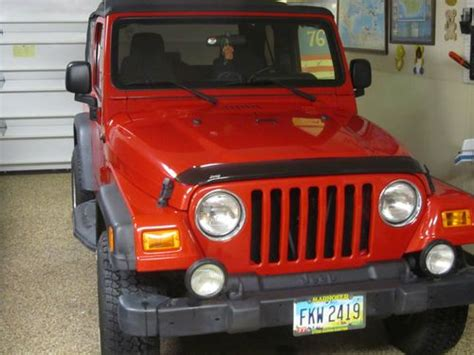 2000 Jeep Wrangler Back Seat Sell Used 2000 Jeep Wrangler Sport 4wd Top 5 Speed Cd