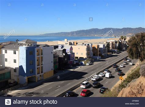 Pch Traffic Today - traffic pacific coast highway pch santa monica los angeles california stock photo