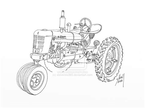 Drawing H Colour by Coloring Pages Farmall Tractors Murderthestout