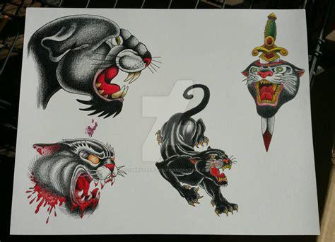 tattoo flash reddit panther tattoo flash sheet 1 by theraptor wolfy on deviantart