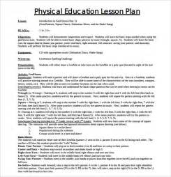 Education Plan Template by Sle Physical Education Lesson Plan Template 7 Free
