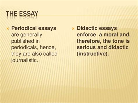Periodical Essays by Periodical Essay Definition And Exles