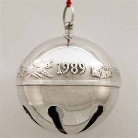 wallace silver bell 2018 1989 wallace sleigh bell silverplate ornament sterling collectables