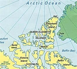 islands in canada map elizabeth islands