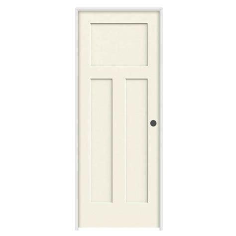 32 Prehung Interior Door by Jeld Wen 32 In X 80 In Craftsman Vanilla Painted Left