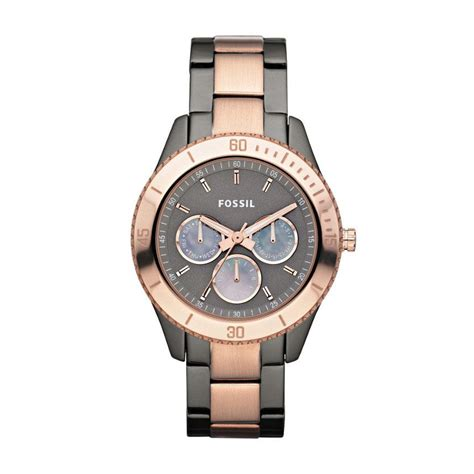 Fossil Fs088 Grey Rosegold stella gold grey fossil watches superbalist