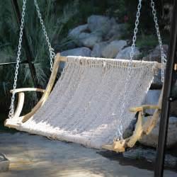 hanging swing rope 2 person outdoor patio garden hammock swing