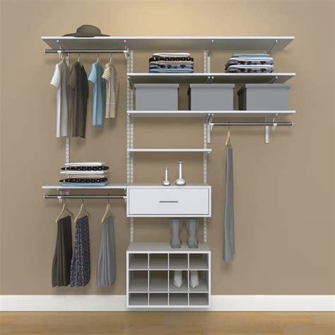 organized living freedomrail 6 foot white wood closet kit