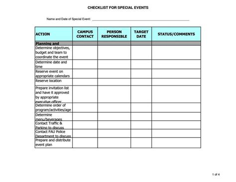 template for planning an event free event planning checklist template excel