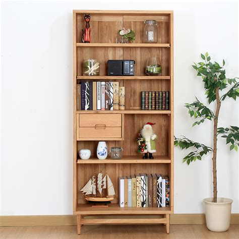 Bc215 Wild Oak White Oak Wood Cabinet Bookshelf Study White Oak Bookcase