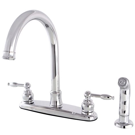 kingston kitchen faucets kingston brass fb7791klsp knight 8 inch centerset kitchen
