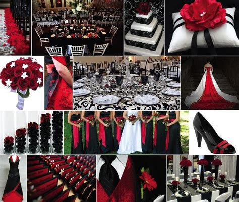 wedding themes red black and white black wedding with red color combination png 717 215 606