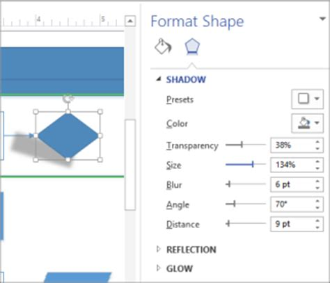 visio shadow add a shadow to shapes and other objects visio