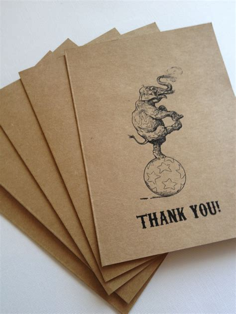 vintage thank you card circus thank you cards vintage circus inspired wedding