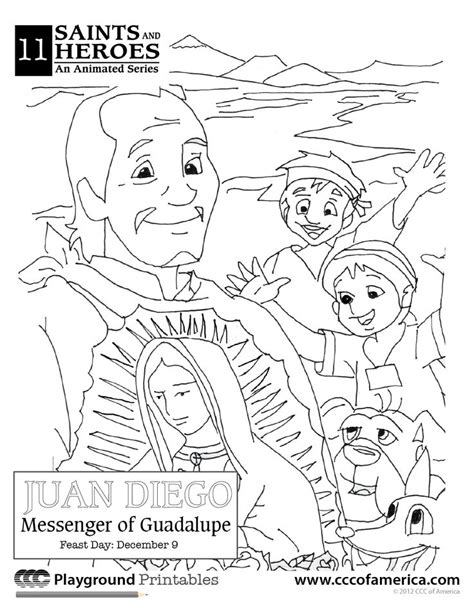 our lady of guadalupe coloring page heart with wing